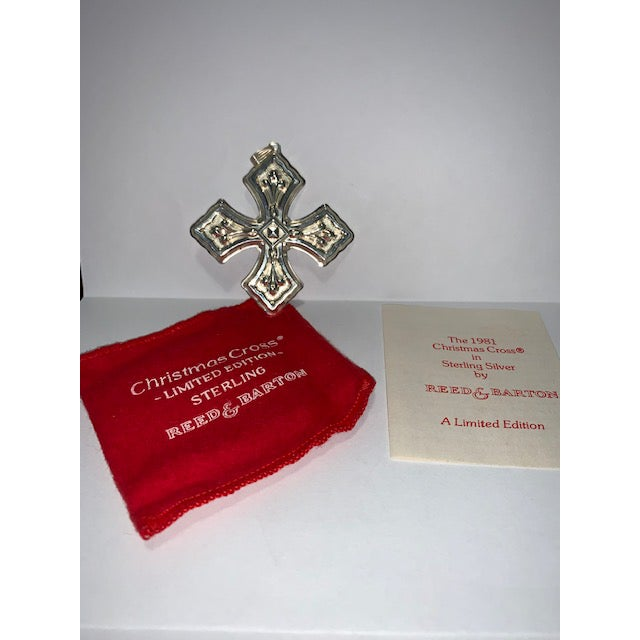 Reed & Barton Sterling Christmas Cross 1981 Limited Edition