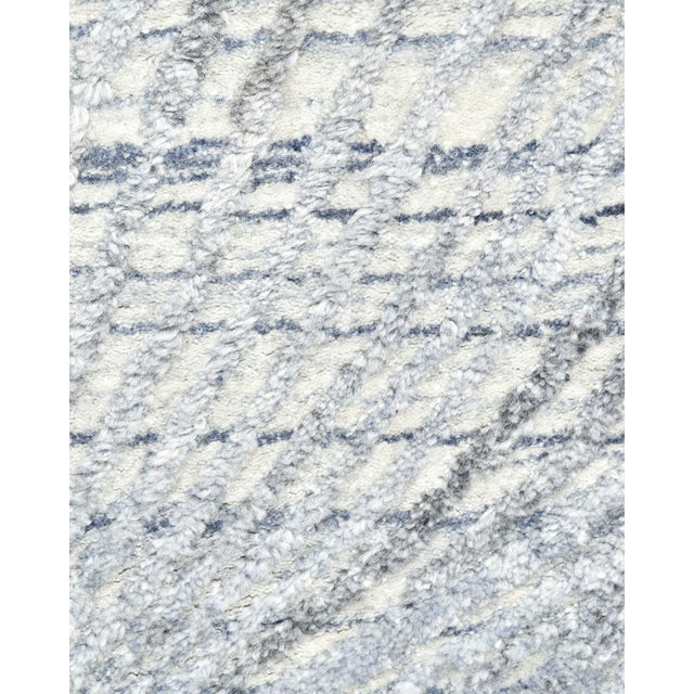 Contemporary Shiva, Contemporary Modern Hand Loomed Area Rug, Mist, 9 X 12 For Sale - Image 3 of 10