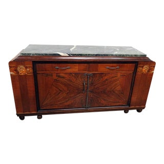 Regency Style Marble Top Sideboard For Sale