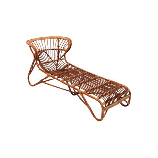 Franco Albini Bamboo Chaise Lounge For Sale
