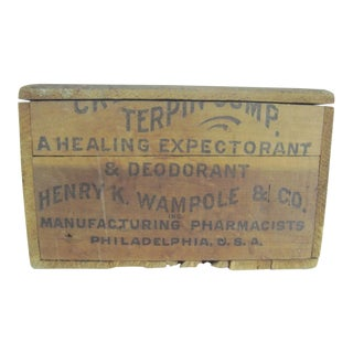 Antique Henry K. Wampole & Co. Medical Supply Box For Sale