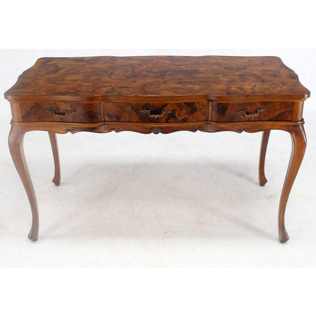 Patch Burl Wood Work Um Size Low Profile Floating Desk Writing Table Drawers For