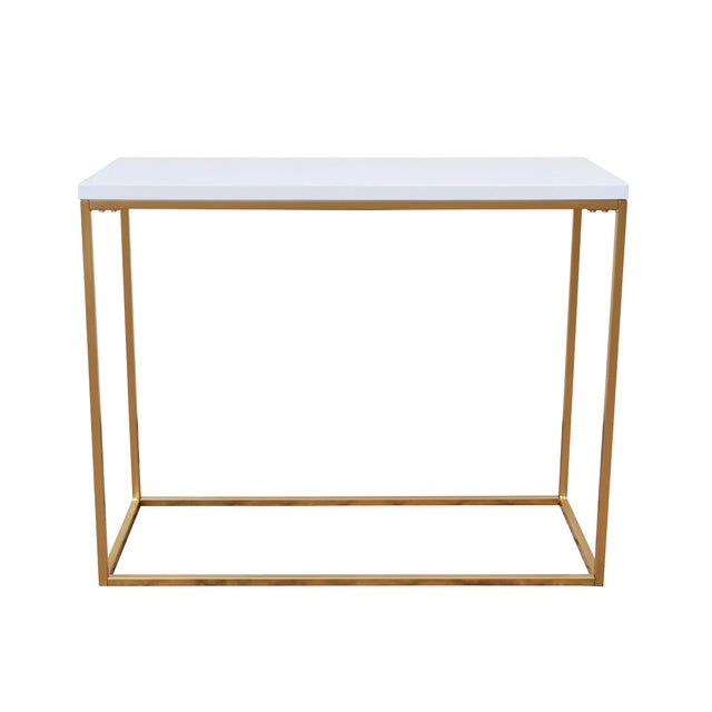 White and Gold Console Table - Image 1 of 4