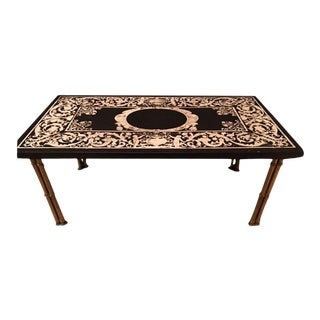 Gilt Bronze Bamboo Leg Coffee Table With Ornate Top For Sale