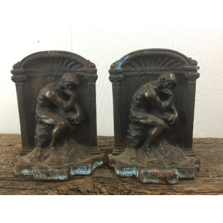 """Rodin """"Thinker"""" Bronze Bookends - Pair Preview"""