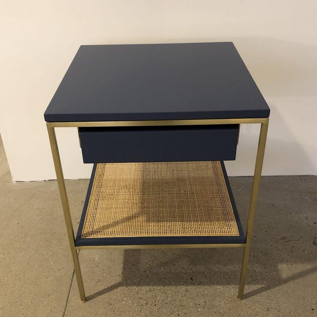 Re: 392 Bedside Table in Kensington Blue Lacquer For Sale - Image 4 of 6