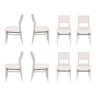 Set of 8 Maze Lacquered Dining Chairs For Sale