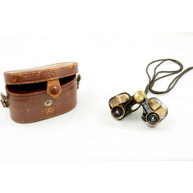 For your consideration a vintage Bushnell 6 x 15 brass opera binoculars with leather case. Tripple coated lens field 7*...