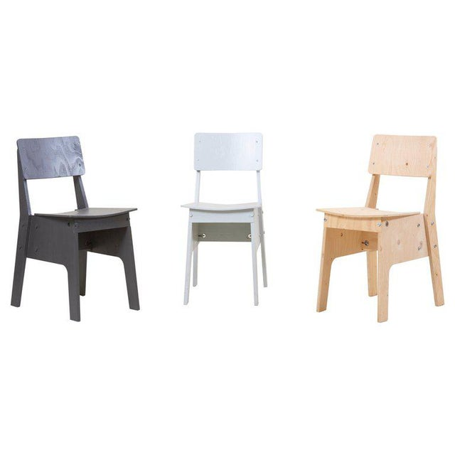 1 of 3 Crisis Chairs by Piet Hein Eek in Plywood For Sale - Image 13 of 13