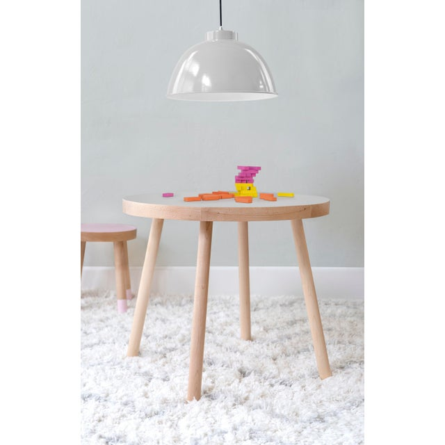 """Contemporary Poco Small Round 23.5"""" Kids Table in Maple With Gray Top For Sale - Image 3 of 4"""