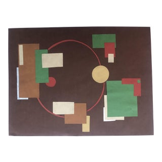 1950s Vintage Mid-Century Modern Atomic Geometric Collage For Sale