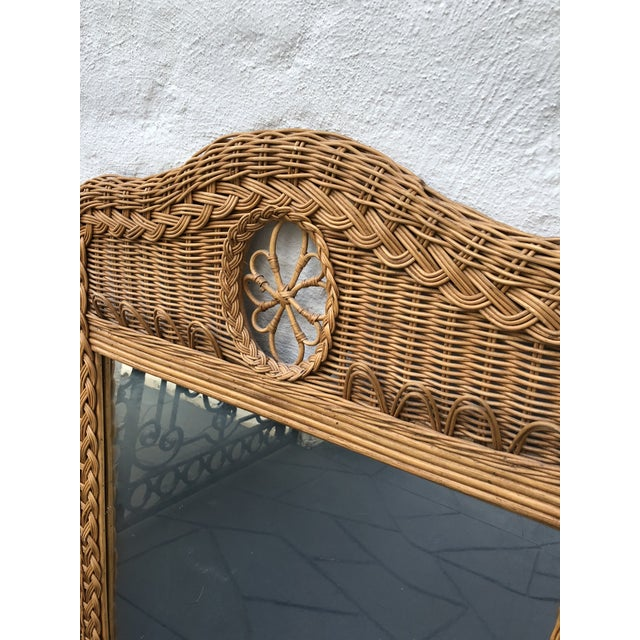 Lexington Furniture Natural Wicker Lexington Mirror For Sale - Image 4 of 7