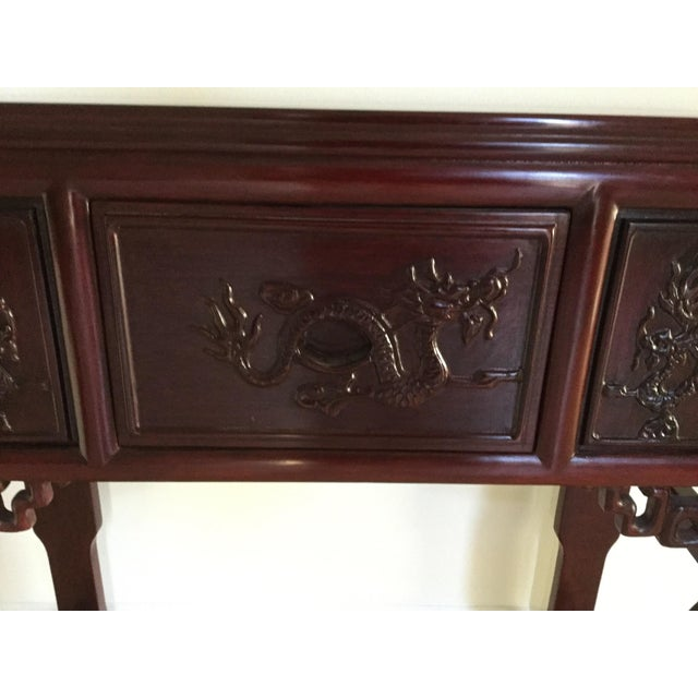 Solid Rosewood Console Table - Image 5 of 6