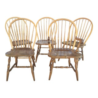 5 Amish Dining Chairs Borkholder For Sale