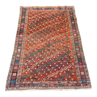 1950s Vintage Persian Meshkabad Rug - 3′5″ × 4′10″ For Sale