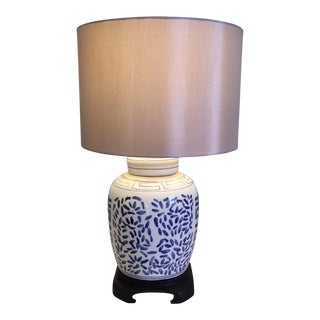 Blue & White Ginger Jar Lamp For Sale