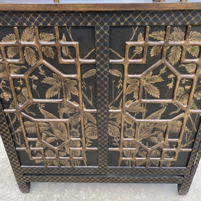 1980s Drexel Heritage Mandalay Chinoiserie Desk For Sale - Image 5 of 13
