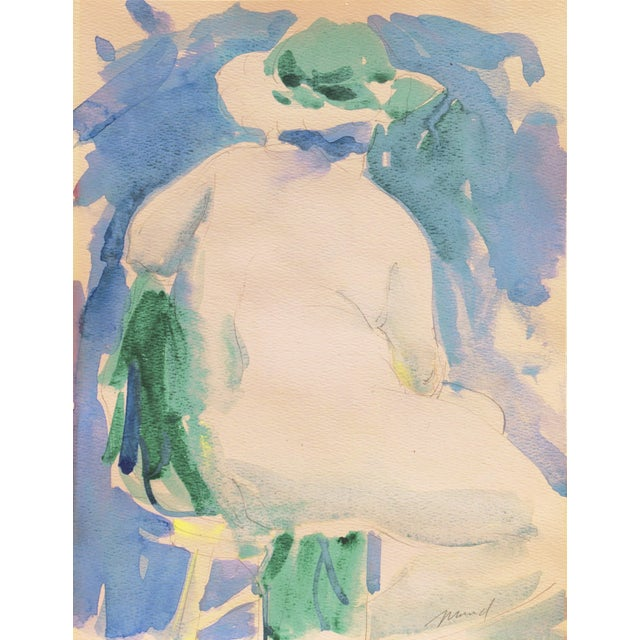 'Nude in a Green Hat' by Marvin Mund, San Francisco Impressionist Figural, Legion of Honor For Sale In Monterey, CA - Image 6 of 6