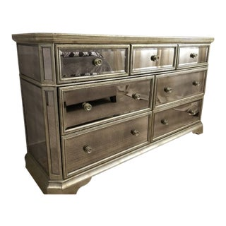Borghese Mirrored Dresser 7 Drawer Chest For Sale