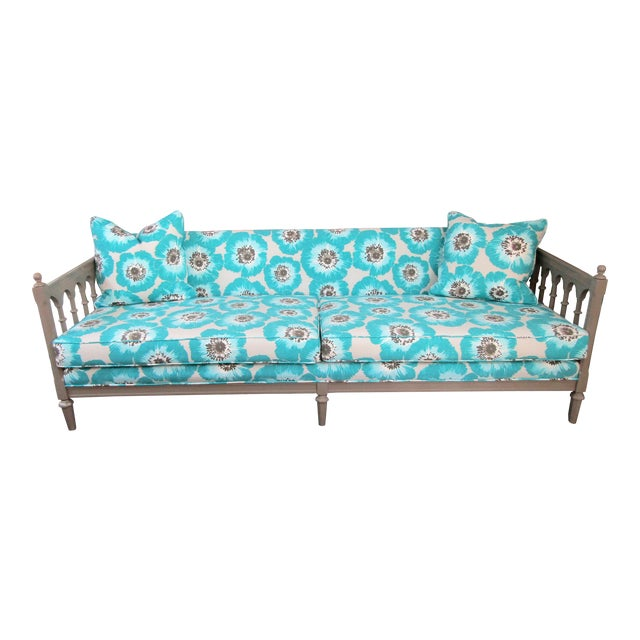 1990s Vintage Colorfully Upholstered Day Bed For Sale