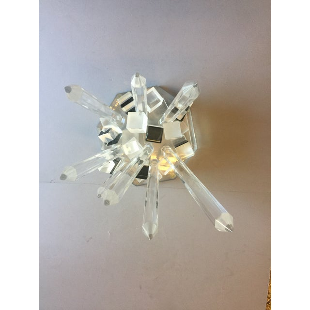Large Modern Lucite Abstract Quartz/Crystal Shape Magnificent Sculpture For Sale In Los Angeles - Image 6 of 13