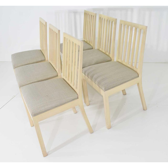 Textile Dining Chairs Attributed to Rose Tarlow for Melrose House - Set of 6 For Sale - Image 7 of 7
