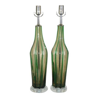 Pin Striped Vintage Murano Lamps For Sale