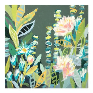 """2010s Contemporary Floral Acrylic Painting on Canvas, """"Summer Garden 2"""""""