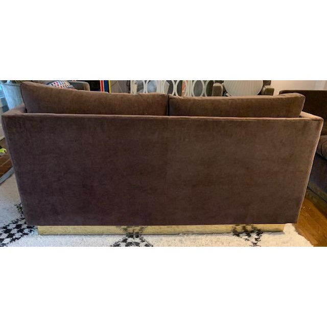 Brown Mid-Century Milo Baughman for Thayer Coggin Newly Reupholstered Loveseat For Sale - Image 8 of 9