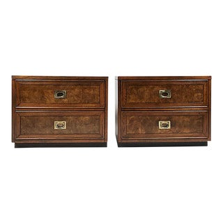 Campaign Side Tables or Nightstands - a Pair For Sale