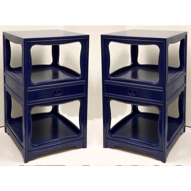 1970s Pair of Michael Taylor for Baker Furniture Side Tables For Sale - Image 5 of 8