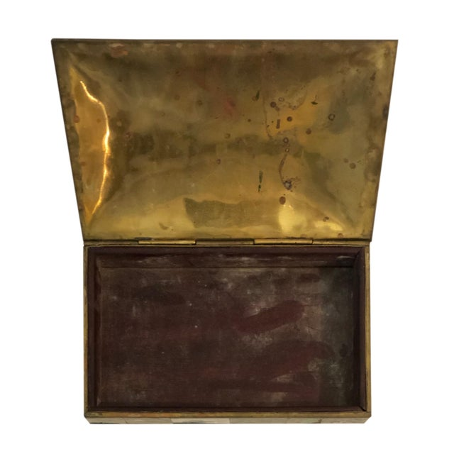 Vintage Mid-Century Domed Abalone Box For Sale In Tampa - Image 6 of 7