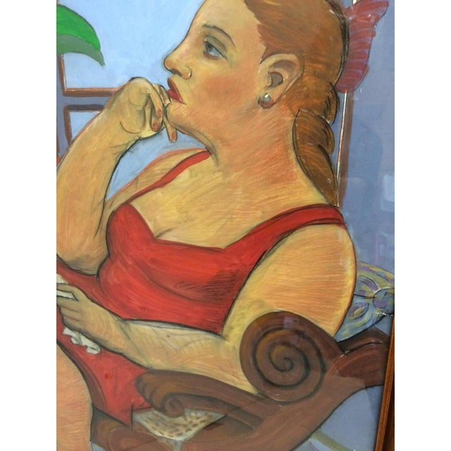 Pastel and Gouache Drawing by Frank Guttierrez - Image 3 of 4