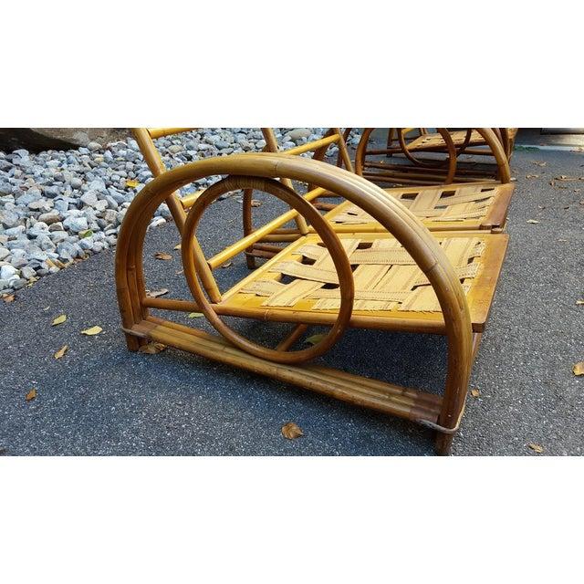Vintage Paul Frankl Style Rattan Furniture - Set of 5 - Image 6 of 9