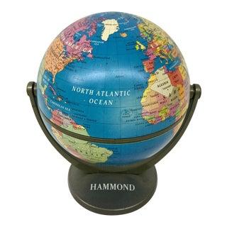Vintage Hammond Swivel and Tilt World Globe For Sale