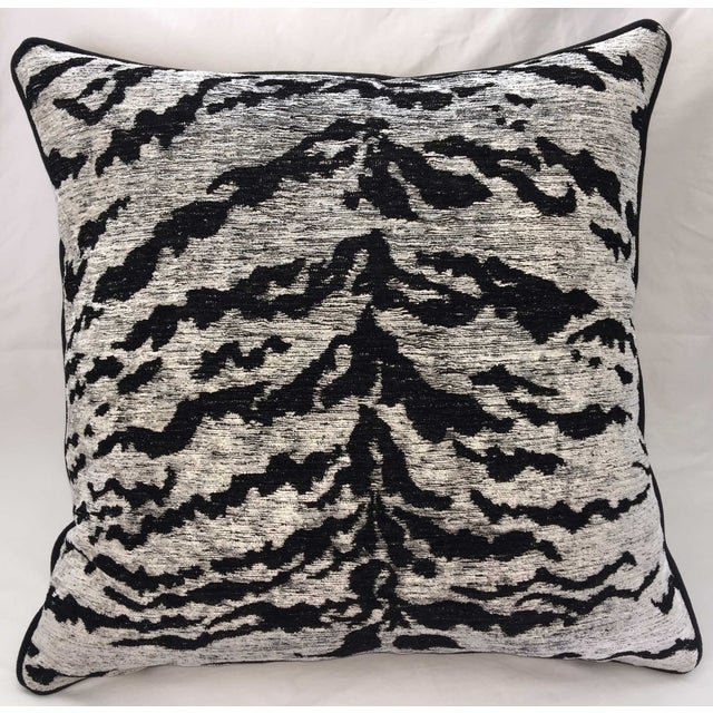 Kravet Couture on the Hunt White Tiger Pillow - Image 2 of 3