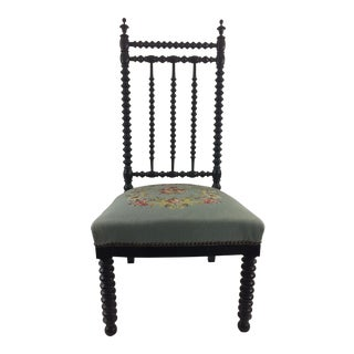 Napoleon Ebonized Spindle Chair For Sale