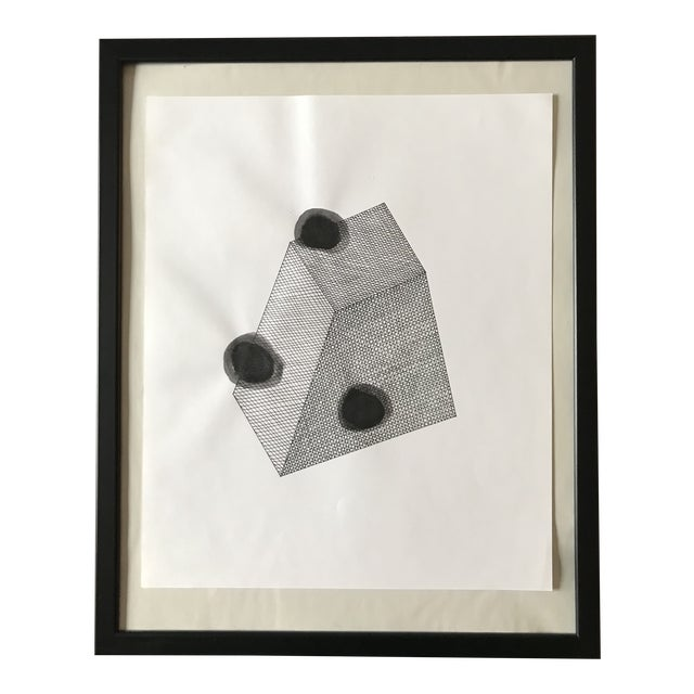 Spotted Prism Hand Drawn Ink Illustration For Sale