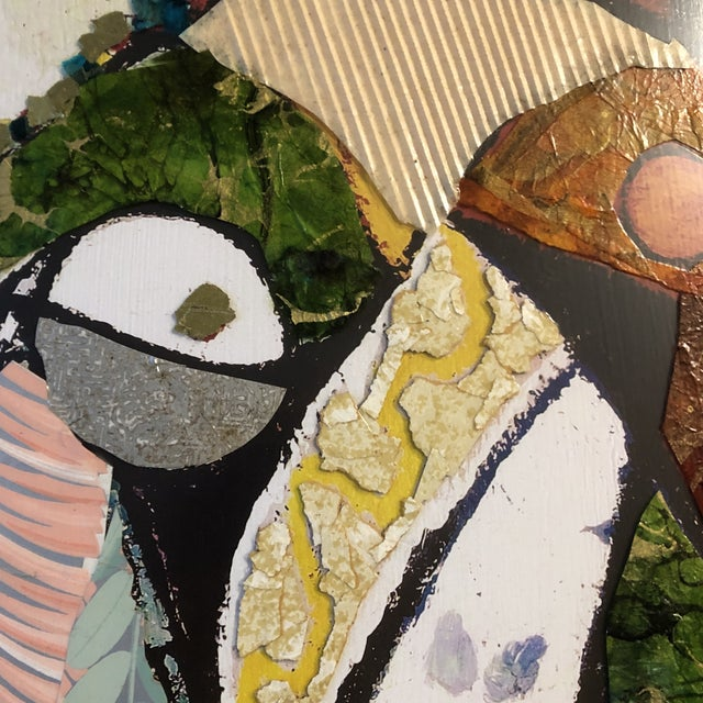 Original Contemporary Large Abstract Modernist Collage Picasso Style Female Reading Framed For Sale - Image 4 of 11