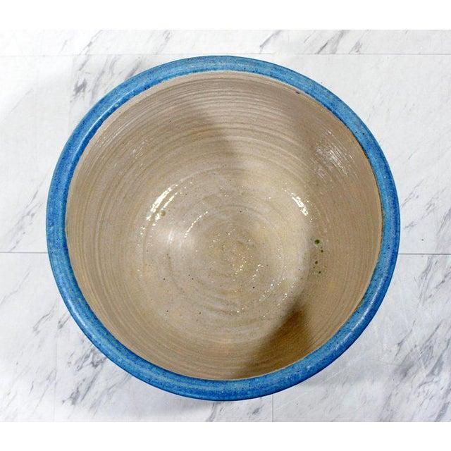 Mid 20th Century Mid-Century Modern Signed j.t. Abernathy Blue Glazed Ceramic Pot, 1960s For Sale - Image 5 of 8