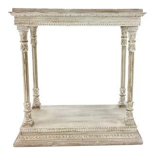 Gustavian White Washed Coulter Console Table For Sale