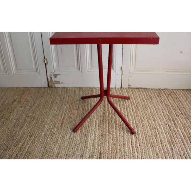 Vintage French Red Garden Table - Image 7 of 8