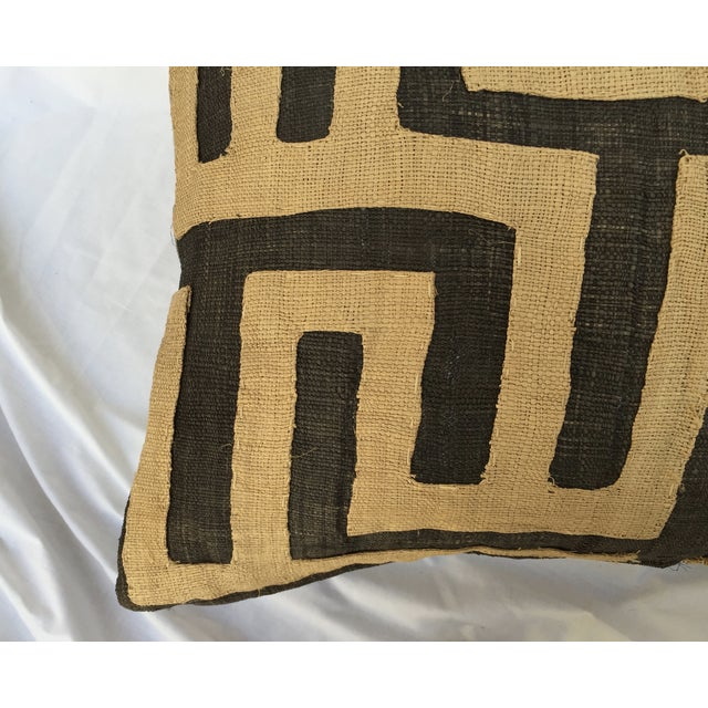 Vintage African Kuba Maze Pillows - A Pair - Image 5 of 8