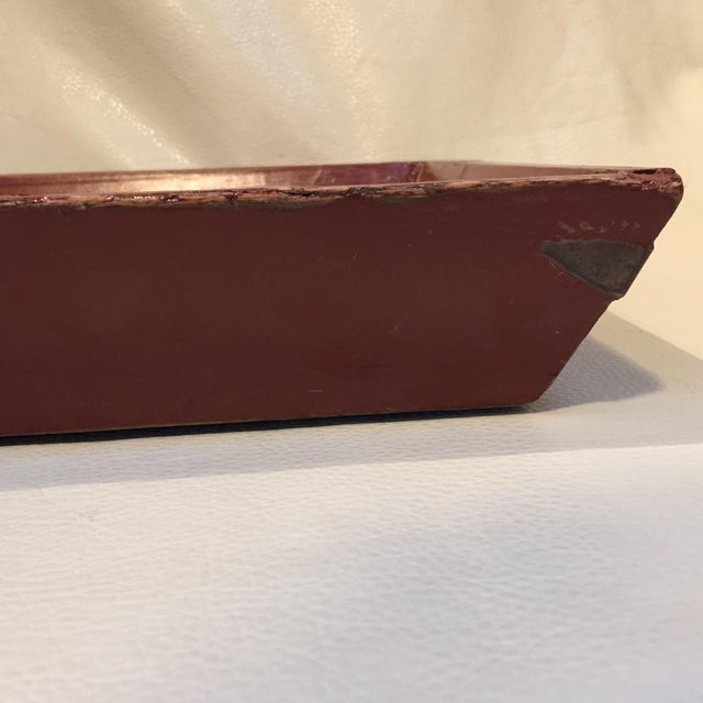Americana Red Elm Tray For Sale - Image 3 of 7