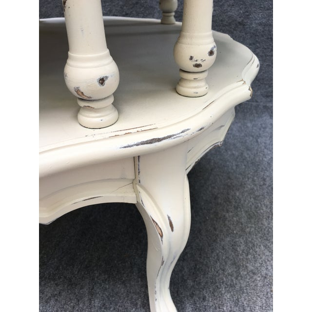 Vintage 2 Tiered Mersman Accent Table For Sale - Image 4 of 11