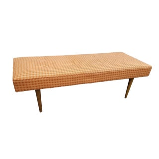 Vintage Mid Century Milo Baughman for Thayer Coggins Upholstered Bench For Sale
