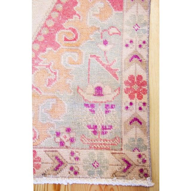 Mid-Century Modern Vintage Western Anatolian Oushak Wool Turkish Area Rug For Sale - Image 3 of 13