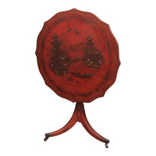 Chinoiserie Decorated Tilt Top Table For Sale