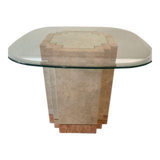 Modern Tessellated Stone Pedestal Table by Robert Marcius for Casa Bisque For Sale