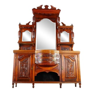 Victorian Mirror Backed Sideboard For Sale